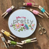 """You're Pretty"" Downloadable PDF Embroidery Pattern"