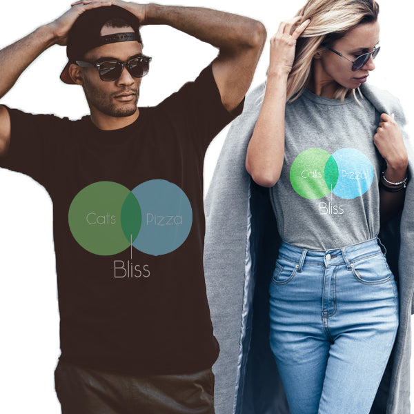 Cats + Pizza = Bliss Unisex T-Shirt