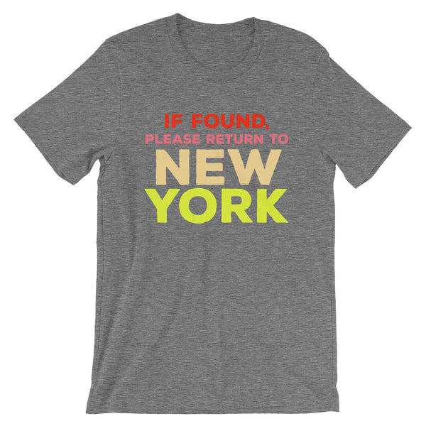Return To New York Unisex T-Shirt
