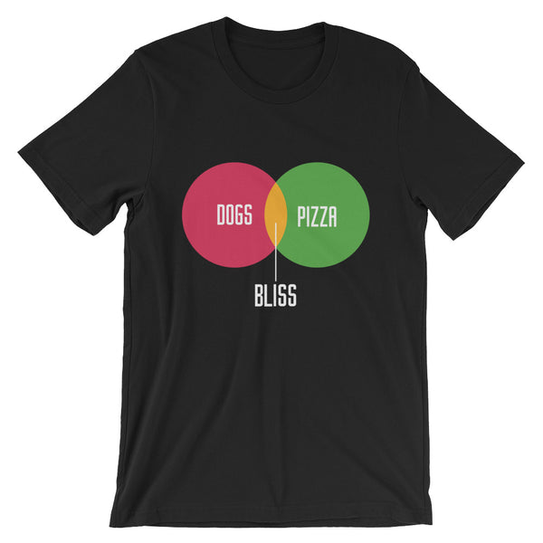 Dogs + Pizza = Bliss Unisex T-Shirt