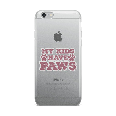 Kids Have Paws iPhone Phone Case