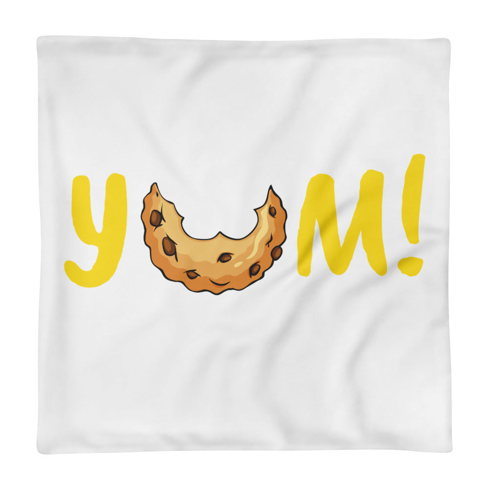 YUM Throw Pillow Case