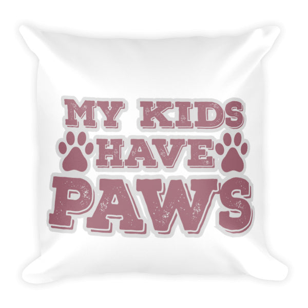 Kids Have Paws Throw Pillow Case