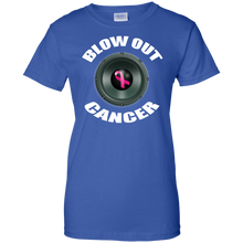 BLOW OUT CANCER Ladies' 100% Cotton T-Shirt