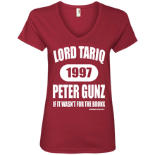 LORD TARIQ PETER GUNZ (Rapamania Collection) Ladies' V-Neck T-Shirt