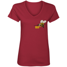 CHIEF  ROCKER BUSY BEE -side logo (Busy Bee Collection) Ladies' V-Neck T-Shirt