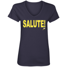 SALUTE! (Busy Bee Collection) Ladies' V-Neck T-Shirt