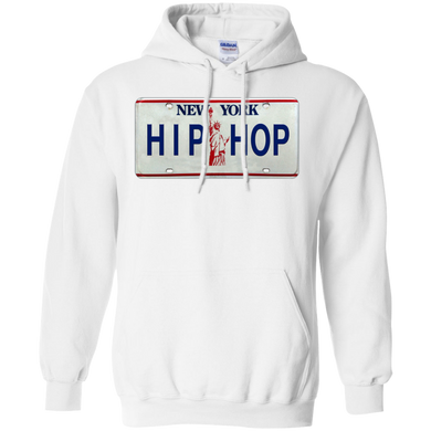 NEW YORK HIP HOP LICENSE PLATE VINTAGE  Pullover Hoodie 8 oz.