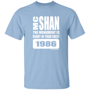 "MC SHAN"" The monument is right in your face"" (Rapamania Collection) oz. T-Shirt"