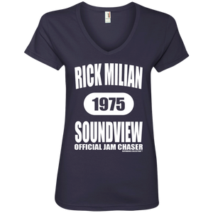 RICK MILIAN SOUNDVIEW (Rapamania Collection) Ladies' V-Neck T-Shirt
