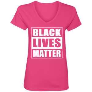 BLACK LIVES MATTER Ladies' V-Neck T-Shirt