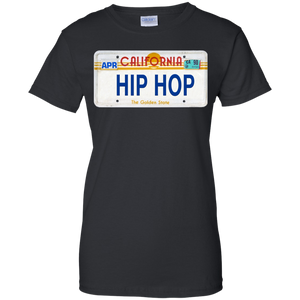 CALIFORNIA HIP HOP LICENSE PLATE VINTAGE Ladies' 100% Cotton T-Shirt