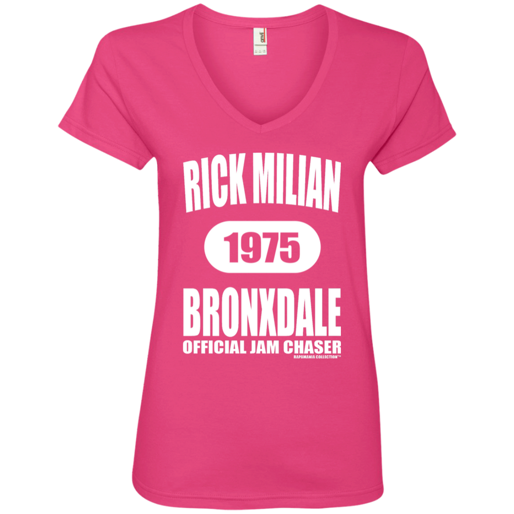 RICK MILIAN BRONXDALE (Rapamania Collection) Ladies' V-Neck T-Shirt