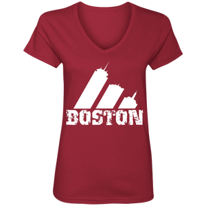 EDO. G (Boston) Ladies' V-Neck T-Shirt