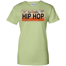 GEORGIA HIP HOP LICENSE PLATE VINTAGE Ladies' 100% Cotton T-Shirt