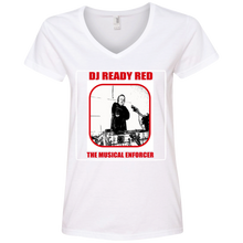 DJ READY RED THE MUSICAL ENFORCER(Rapamania Collection) T-Shirt Ladies' V-Neck T-Shirt