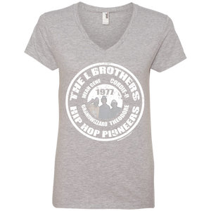 THE L BROTHERS PIONEER (Rapmania Collection) Ladies' V-Neck T-Shirt