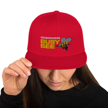 Busy Bee Snapback Hat (white letters