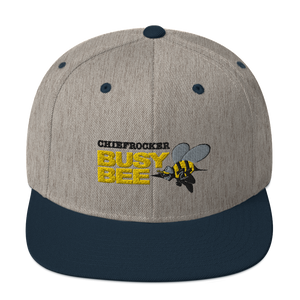 Busy Bee Snapback Hat (black letters)