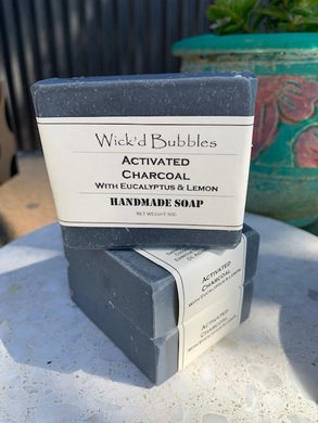 Activated Charcoal with Lemon & Eucalyptus EO Soap 90g