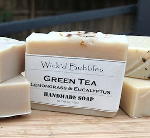 Green Tea with Lemongrass & Eucalyptus EO Soap
