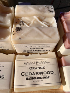 CLEARANCE Orange Cedarwood EO Soap 90g