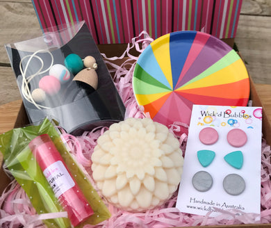 Rainbow Gift Pack - Diffuser, Flower Soap & Lip Balm