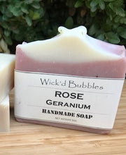 Load image into Gallery viewer, Rose Geranium EO Soap