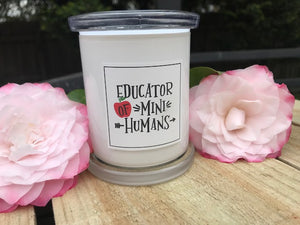 """Mini Humans"" Soy Candle With Lid 180g Teacher Gift"