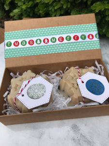 Xmas Gift Box - Snowflake Soap 2 pack