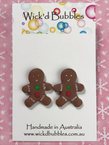 Gingerbread Stud Earrings #1 | Single Pack Xmas