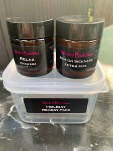 NEW Holiday Remedy Natural Balm Pack