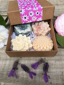 Spring Gift Box - Flower Soap 4 Pack