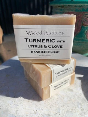 Turmeric with Citrus & Clove EO Soap 90g