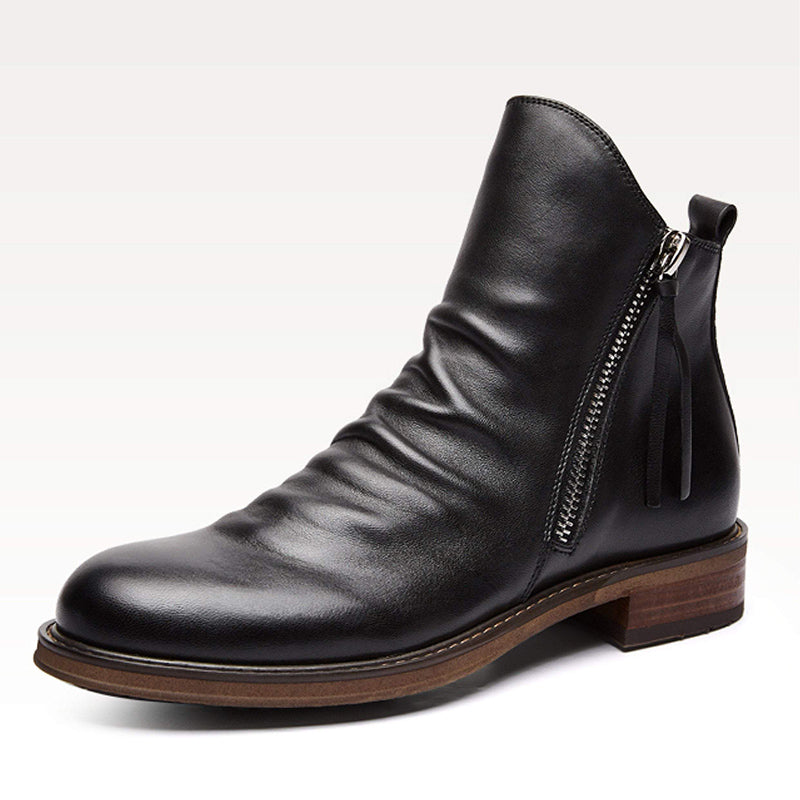 917791668 British Style Men Leather Ankle Boots