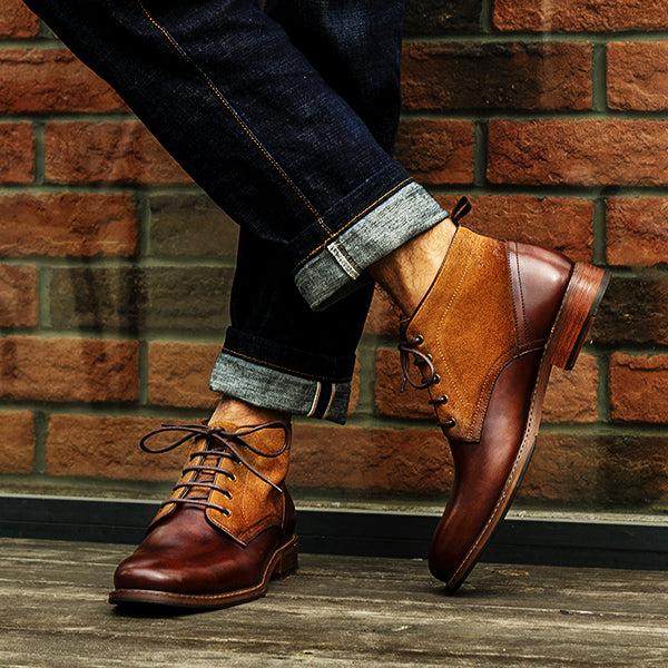 Men Casual Retro Sytle Leather Boots Shoes