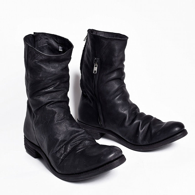 c76498b18 Pleated Zipper Leather Boots