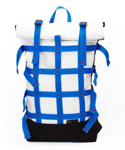 THE WEBBING 18ltr URBAN BACKPACK IN WHITE BY BRAASI INDUSTRIES™