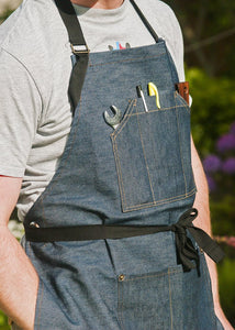 Work Wear Works™ 14oz Twin Pocket Denim Apron with FREE DELIVERY!