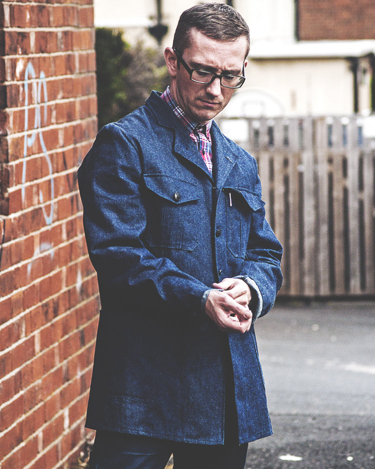 The Spin King & Company 'Steamroller' Denim Work Wear Vintage Style Jacket
