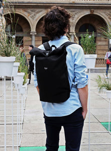 THE ROLLTOP 16ltr URBAN BACKPACK IN BLACK BY BRAASI INDUSTRIES™
