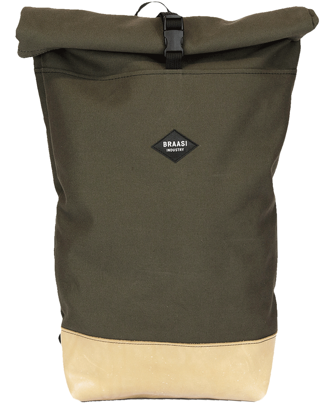 THE ROLLTOP 16ltr BACKPACK IN KHAKI BY BRAASI INDUSTRIES™