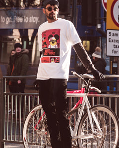 Spin King Clothing© Fixie Bruvvahs Tee in White