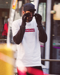 FSTRTHNÜ Red Letterbox Tee in White
