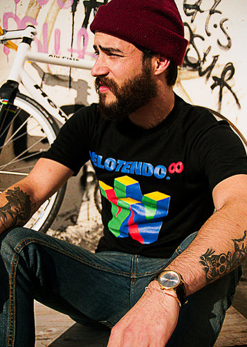 Velotendo Infinity Spoof T-shirt in Black