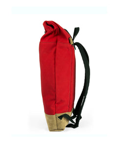 THE ROLLTOP 16ltr BACKPACK  IN RED BY BRAASI INDUSTRIES™
