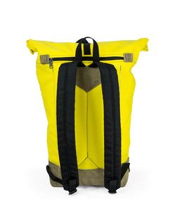 THE ROLLTOP 16ltr URBAN BACKPACK IN YELLOW BY BRAASI INDUSTRIES™