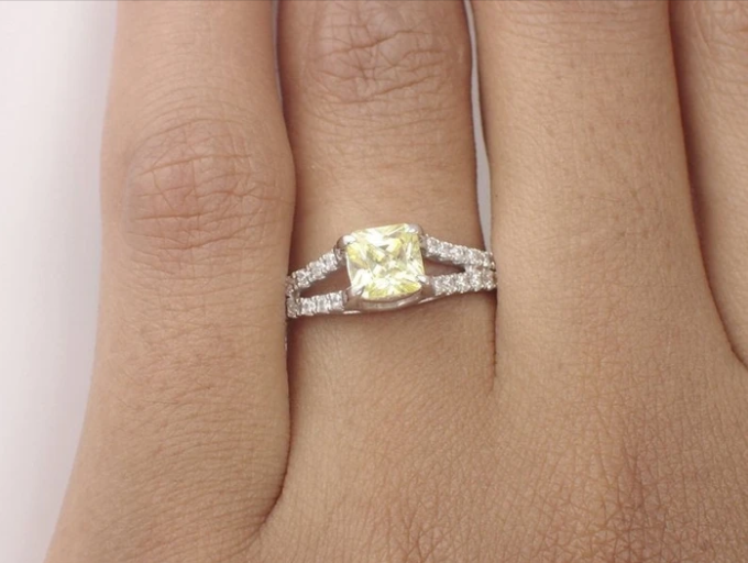 Custom listing for our Most Favorite Customer - yellow sapphire diamond 14k ring