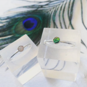 Abalone shell / Opal stacking ring
