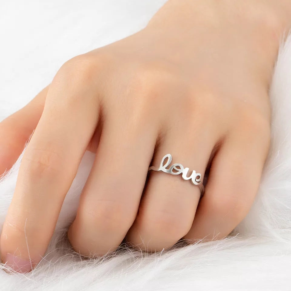 Stainless Stell Love Ring